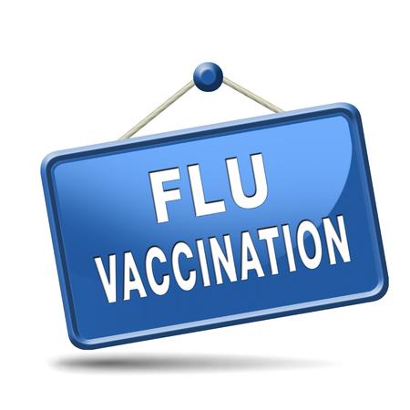 immunization: flu vaccination needle immunization shot Stock Photo