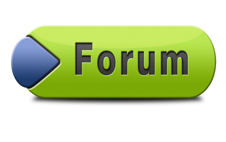 discussion: forum internet website www logon login discussion Stock Photo