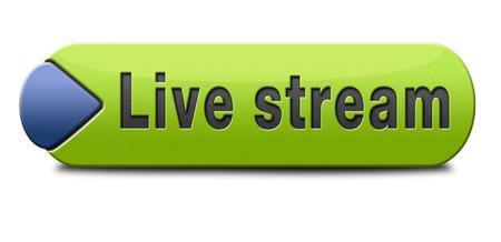 Live stream tv Musik-oder Video-Button-Symbol oder Zeichen Live on air Rundfunk Film-oder Radioprogramm Standard-Bild - 24737443