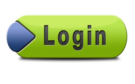 login button: login button or user or member log in  website banner