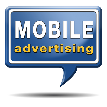 mobile advertising marketing online internet commercial Stock Photo - 24739397