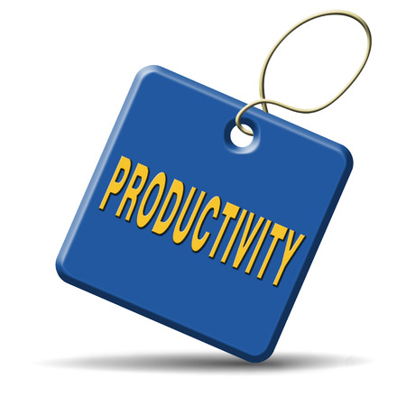 labor market: productivity industrial or business productive time management production costs maximizing output rate Stock Photo
