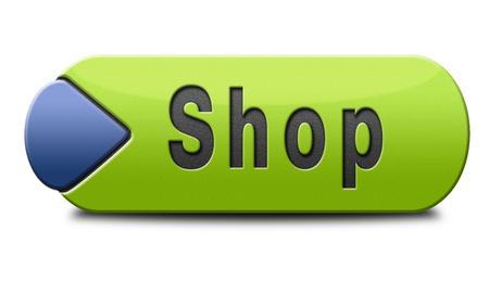 Shop sign go to the online webshop button, internet web shopping icon Stock Photo - 24739655