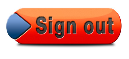 sign out button or user or member logout icon or banner photo