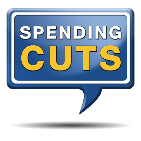 budgets:  spending cut lower budgets and public spendings cuts economic recession Stock Photo