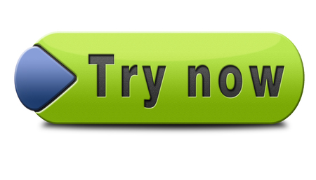 try: Try now button or icon free trial  Stock Photo