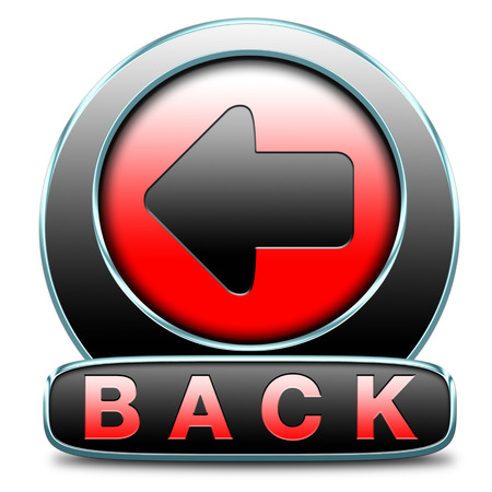 back previous or return button or icon Stock Photo