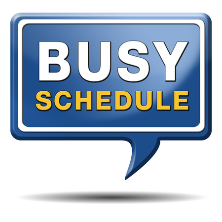 busy schedule full agenda need for time management photo
