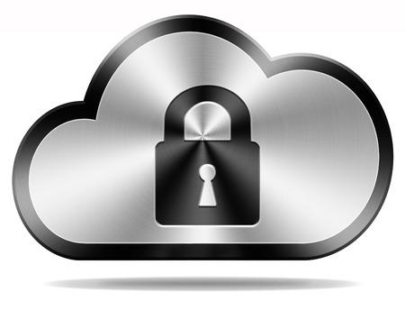 機密情報やプライベート情報とデータのプライバシーとセキュリティ クラウド安全ロック 写真素材