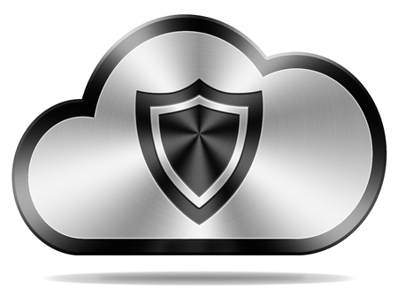 private cloud: cloud security icon safety and privacy for confidential and private information and data, Stock Photo