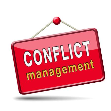 conflictbeheersing in het bedrijfsleven op het werk of tussen echtpaar met verschillende belangengroepen oplossen van het probleem en vind resolutie