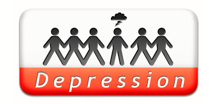 mental depression due to stress psychology and mental health spycho therapy or Antidepressant photo