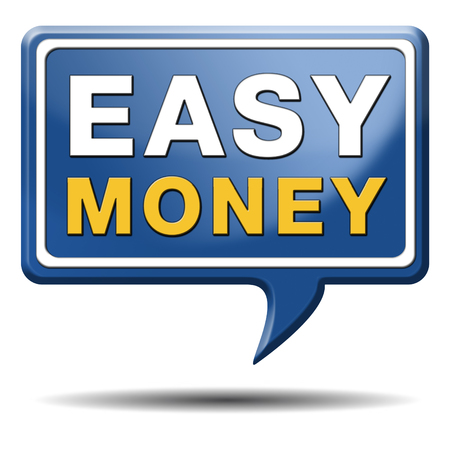 easy money: fast easy money quick extra cash make a fortune online income  Stock Photo