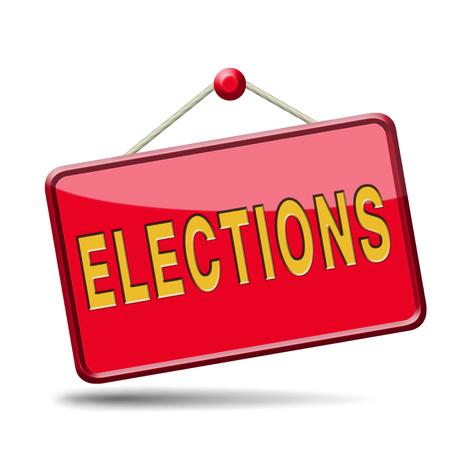 polling: elections free election for new democracy local national voting poll Stock Photo