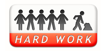 hard work ahead: hard work busy with important job working sign