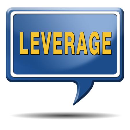 leverage: fondos de apalancamiento endeudamiento nocional o econ�mica de dinero de cobertura ganancias y las p�rdidas de activos pasivos Foto de archivo