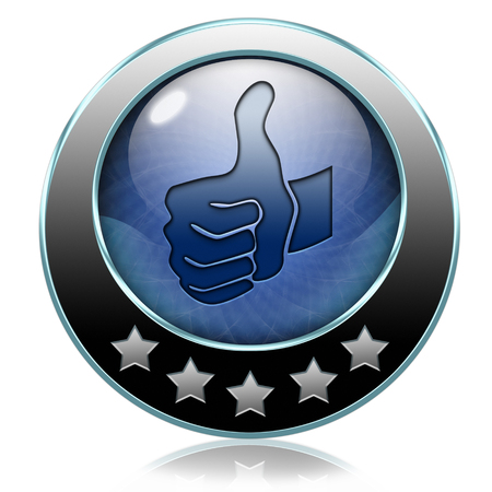 like and follow us thumbs up icon or button photo