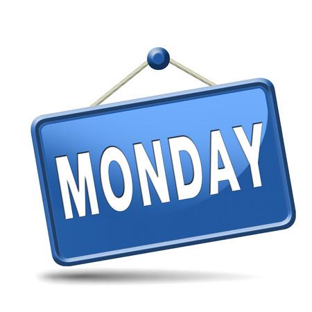 予定またはイベントの議題のため月曜日週次または次の日のスケジュール コンセプト