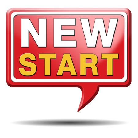 start: starten neues Leben Weg zu frischem beginnen Neuanfang