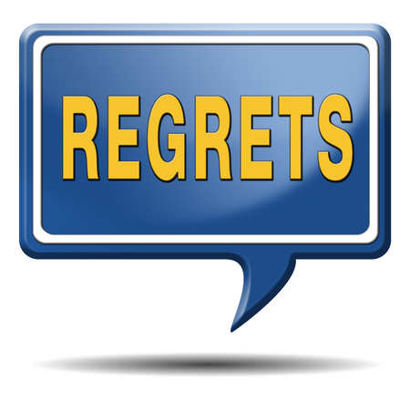 regret or no regrets saying sorry and offer apologize being ashamed for bad decisions Stock Photo - 25263131