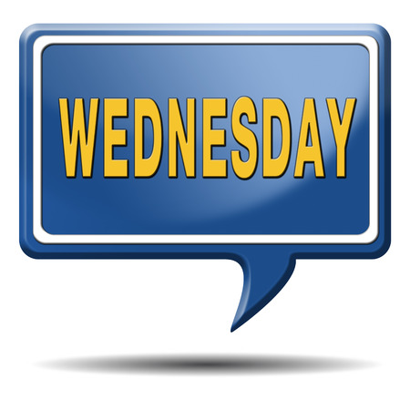 wednesday: Wednesday week next or following day schedule concept for appointment or event in agenda Stock Photo
