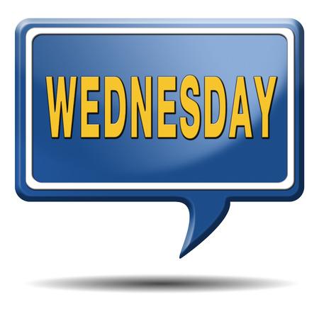 Woensdag week volgende of de volgende dag schema concept voor de afspraak of gebeurtenis in de agenda Stockfoto