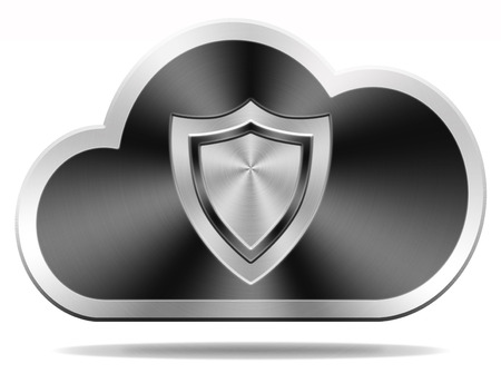 cloud security: cloud security icon safety and privacy for confidential and private information and data, Stock Photo