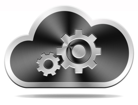 provider: cloud computing technology maintenance and provider hosting software service icon or button performance and infrastructure of public private and hybrid data storage