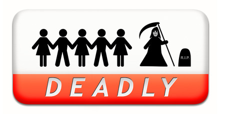 deadly dangerous warning sign very risky business life threatening poison leading to certain death Stock Photo - 25318935