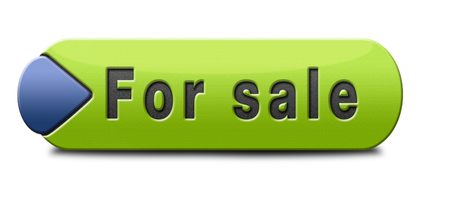 sale sign: For sale sign selling a house apartment or other real estate button. Home to let icon.