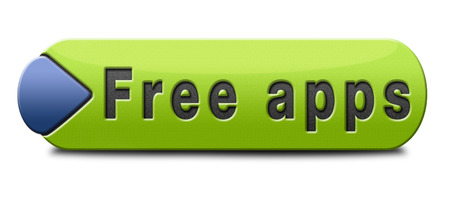 gratis: apps for free, gratis download of apps button, icon or sign Stock Photo