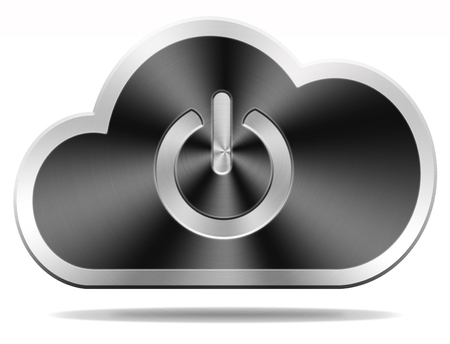 login cloud computing icon or button for private hybrid or community cloud photo