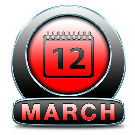 March to next month of the year early spring event calendar Stock Photo - 25319161