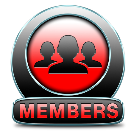 vip area: members only icon sign or sticker become a member and join here to get your membership application label or button.