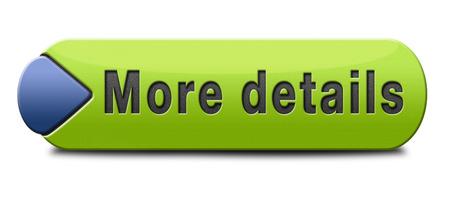 Weitere Details und Informationen finden, Icon, Button oder Informationen Zeichen. Online Ausbildung oder Hilfe oder Unterstützung Schreibtisch. Suchen lernen und Wissen online. Standard-Bild - 25319167