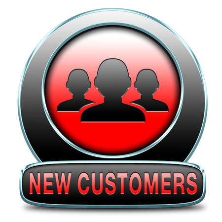 orientated: new customers attract buyers increase traffic by product marketing service and promotion study customer base and profile Stock Photo