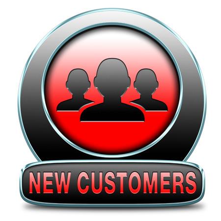 nouveaux clients attirer les acheteurs augmenter le trafic par un service de la commercialisation des produits et de la clientèle de l'étude de promotion et de visibilité Banque d'images