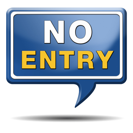no entry access denied staff and members only password required restricted area photo