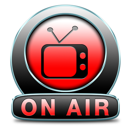 live stream sign: TV live on air television live stream broadcast Stock Photo