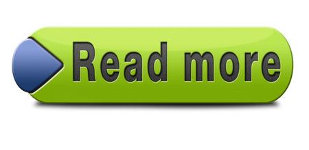 Lees meer knop of pictogram Stockfoto