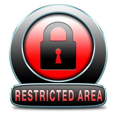 members only: access password protected restricted area members only Stock Photo