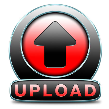 Upload file document movie or video button or iuploading picture photo or image icon photo