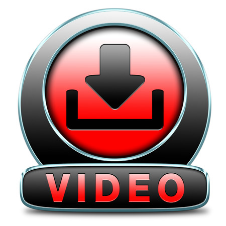 video or movie download icon or button photo