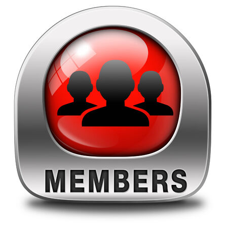 members only: members only icon sign or sticker become a member and join here to get your membership label.