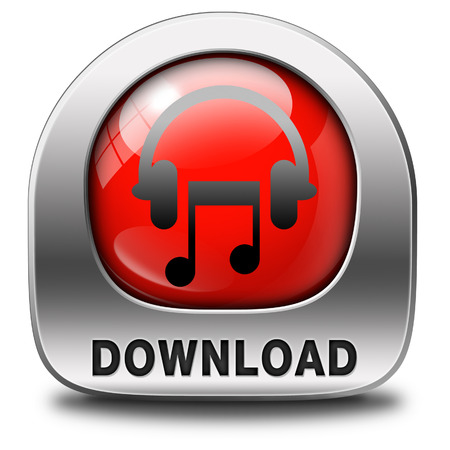 live stream listening: Music download button or icon to play and to listen live stream or for download song
