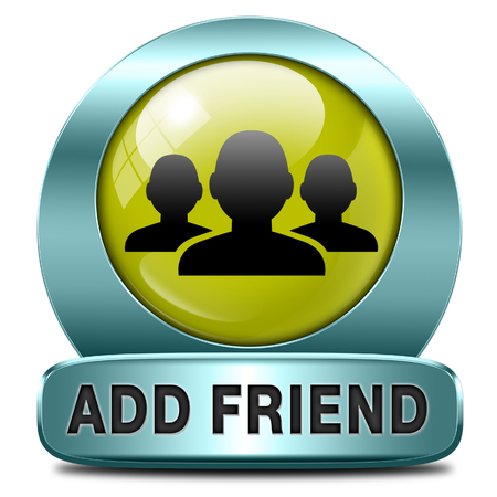 add as friend: Add as friend icon or button join online community virtual friends through networking