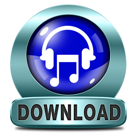 Music download button or icon to play and to listen live stream or for download song Stock Photo - 25598221