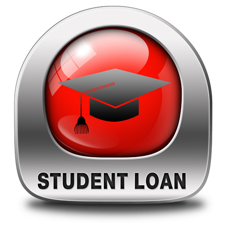 student loan icon for university or college education photo