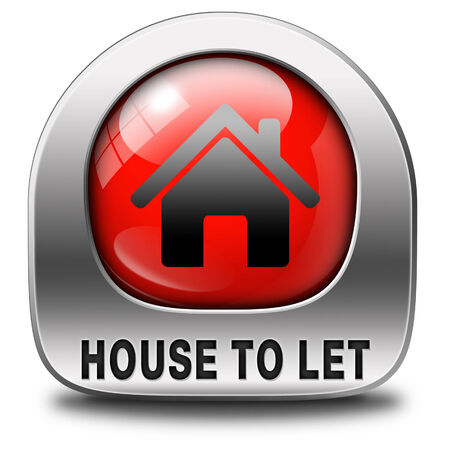 for rent sign: For rent sign, renting a house apartment or other real estate to let label. Home flat or room to let icon.