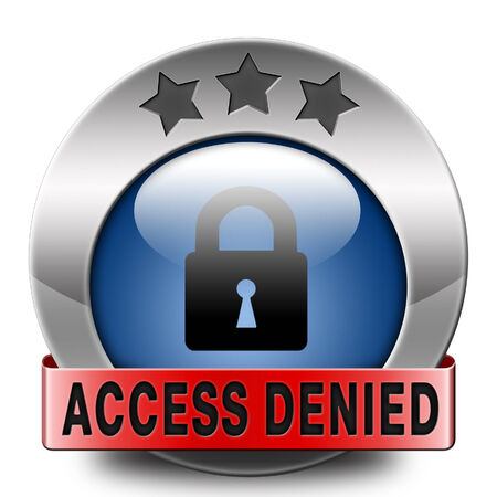 vip area: access denied no access in restricted area. Password protected and members secured zone. Privacy security sign icon or button.